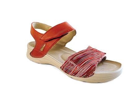 Sandále DANA zdravotní obuv dámská červená LD-T25 N Medistyle ... fff0b9f0d6d