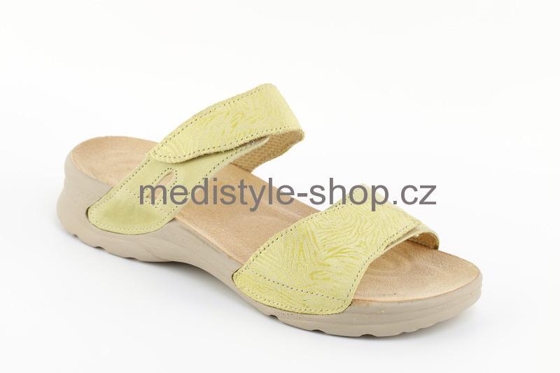 Pantofle DANA dezén zdravotní obuv dámská zelená LD-T17 D Medistyle 0f32b7e5f26
