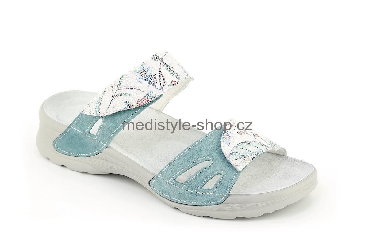 Pantofle DANA potisk zdravotní obuv dámská zelená s potiskem LD-T17 1K  Medistyle 055dafa2184