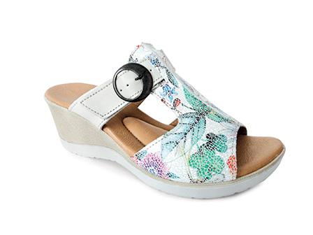 55141099085 Pantofle KÁJA zdravotní dámská vycházková obuv zeleno-modr 8K-PN17 1K  Medistyle