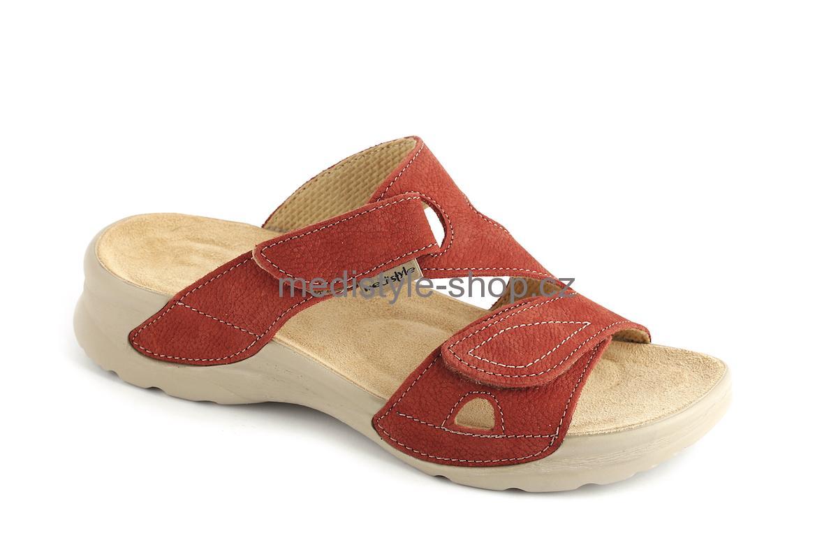 ebde40f1e683 Pantofle KIVI zdravotní obuv dámská červená 2K-T15 Medistyle