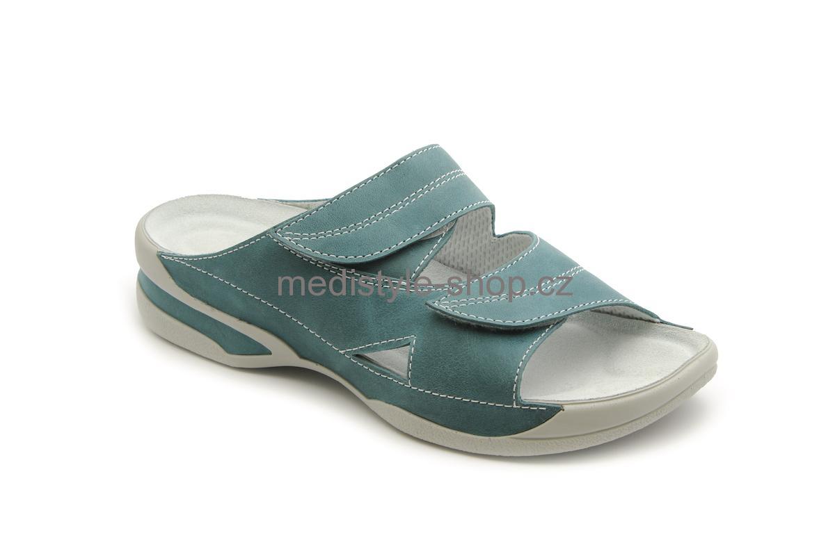Pantofle LUCY zdravotní obuv dámská tyrkys 5L-E17 9 Medistyle 1eca557a98