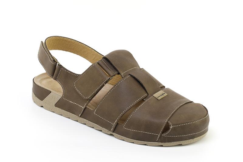 d437a2317f49 Sandále MAREK zdravotní obuv pánská hnědá 7M-J24 Medistyle ...