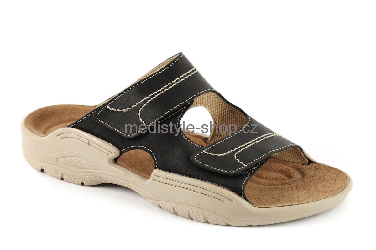 688908e05a0b Pantofle MICHAL zdravotní obuv pánská černá 2M-M16 Medistyle