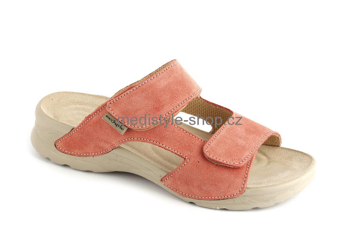 9c088c285d47 Pantofle MIRKA zdravotní obuv dámská oranžová LM-T18 Medistyle