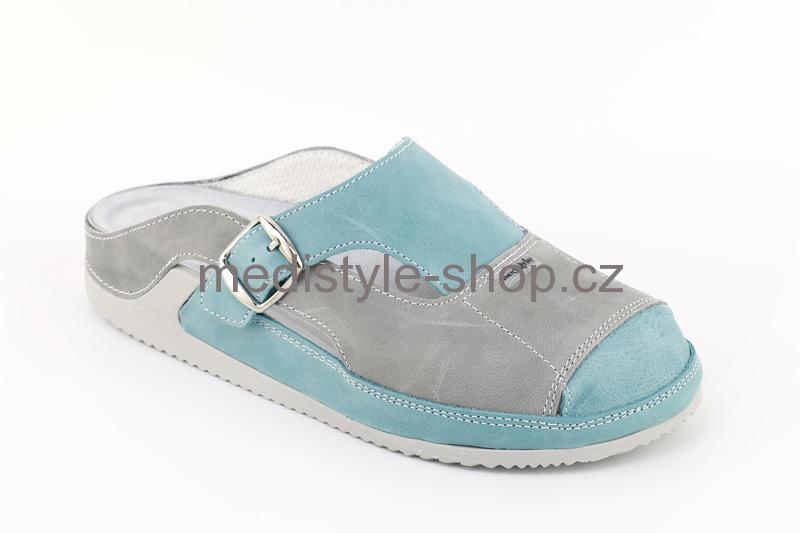 1d891776555d Pantofle PARINA zdravotní obuv dámská šedo-zelená 5P-J17 1 Medistyle