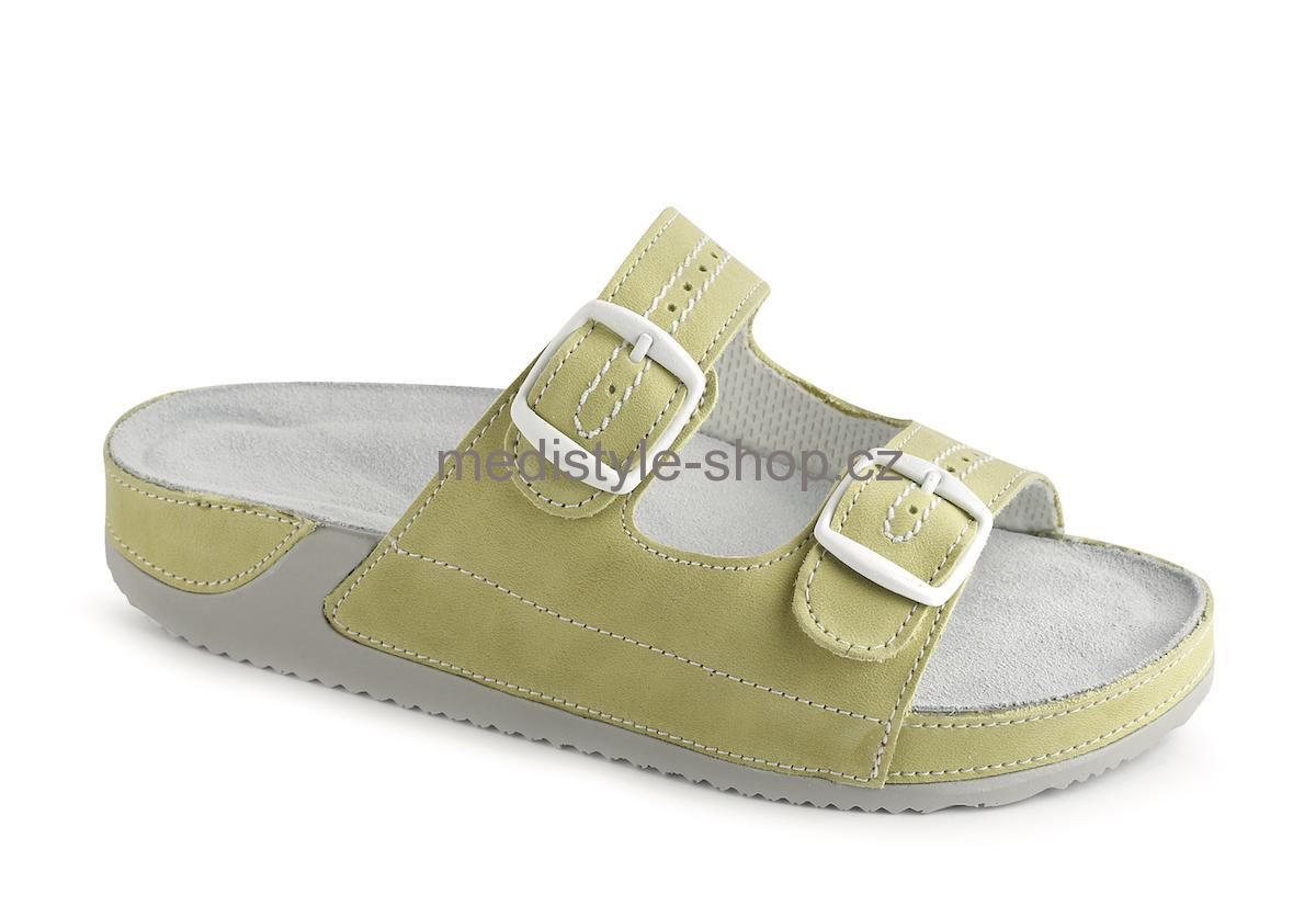 d498c034a626 Pantofle ROZÁRA zdravotní obuv dámská zelená 4R-J17 Medistyle