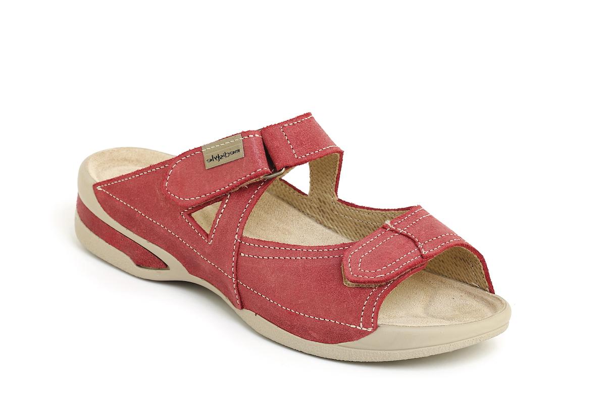 5a7b703b2c91 Pantofle SABINA zdravotní obuv dámská červená 6S-E15 Medistyle ...