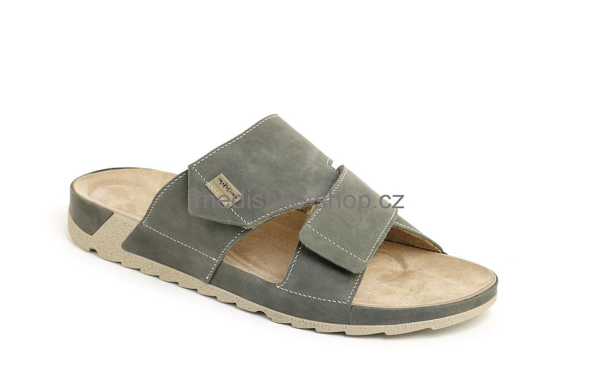 aab8394a3be7 Pantofle TOMÁŠ zdravotní obuv pánská šedá 6T-J16 1 Medistyle