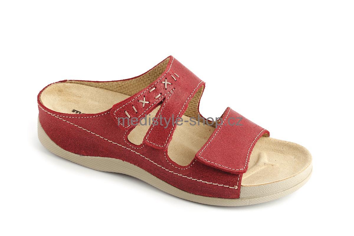 165bf43a21de Pantofle TÝNA zdravotní obuv dámská červená LT-615 Medistyle